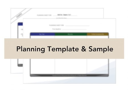 planning template & sample