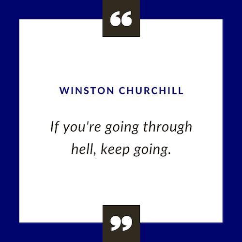 Winston Churchill motivational quote