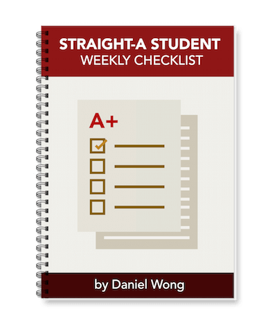 Straight-A Student Weekly Checklist