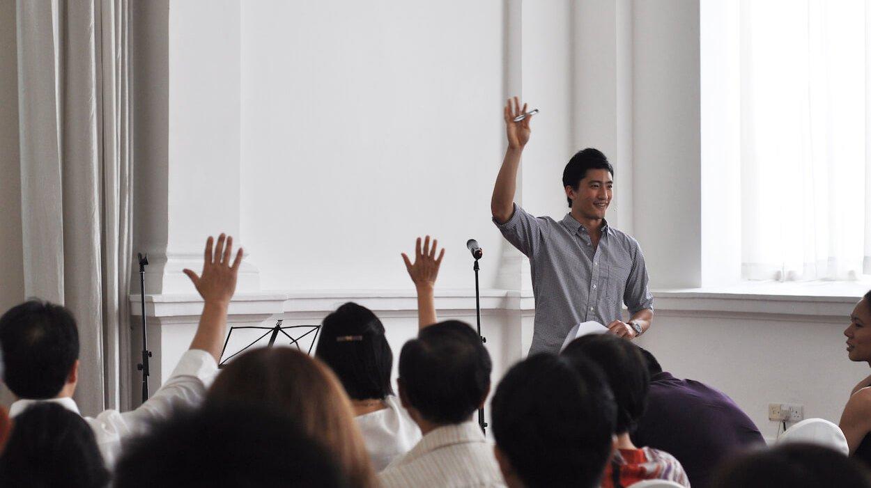 Daniel Wong speaking